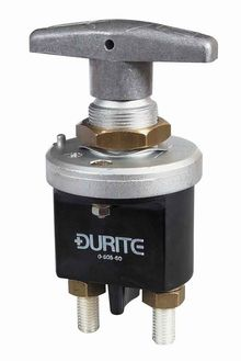 Durite Battery Isolator with fixed handle 250 amps at 24 volts.