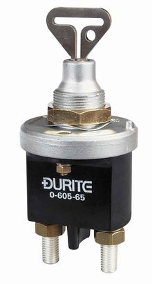 Durite Battery Isolator - removable key in the 'OFF' or 'ON' positions.   *£45.00 EACH!*