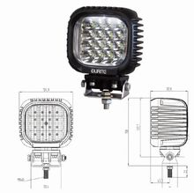 16 x 3W CREE LED Work Lamp - Black, 10-30V 3800lm, IP67  *SPECIAL OFFER £60.68 each!*