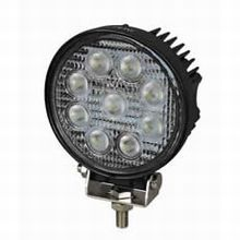 9 x 3W LED Work Lamp with 2.5m Flying Lead - Black, 12/24V, IP67   *29.95 EACH!*