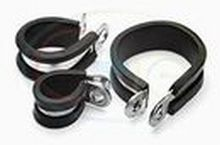 P Clips - Mild Steel, Rubber Lined 19mm & 25mm  *£0.40 each!*  * *CLICK HERE FOR FULL DETAILS AND QUANTITY PRICES!*