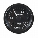 Durite Mechanical Vacuum/Boost Gauge with 5' Capillary - 52mm