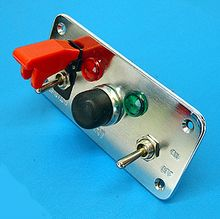 Switch Panel, 2 x switches, 2 x warning lights, 1 x starter button. Qty 1 *SPECIAL OFFER!* £14.25!